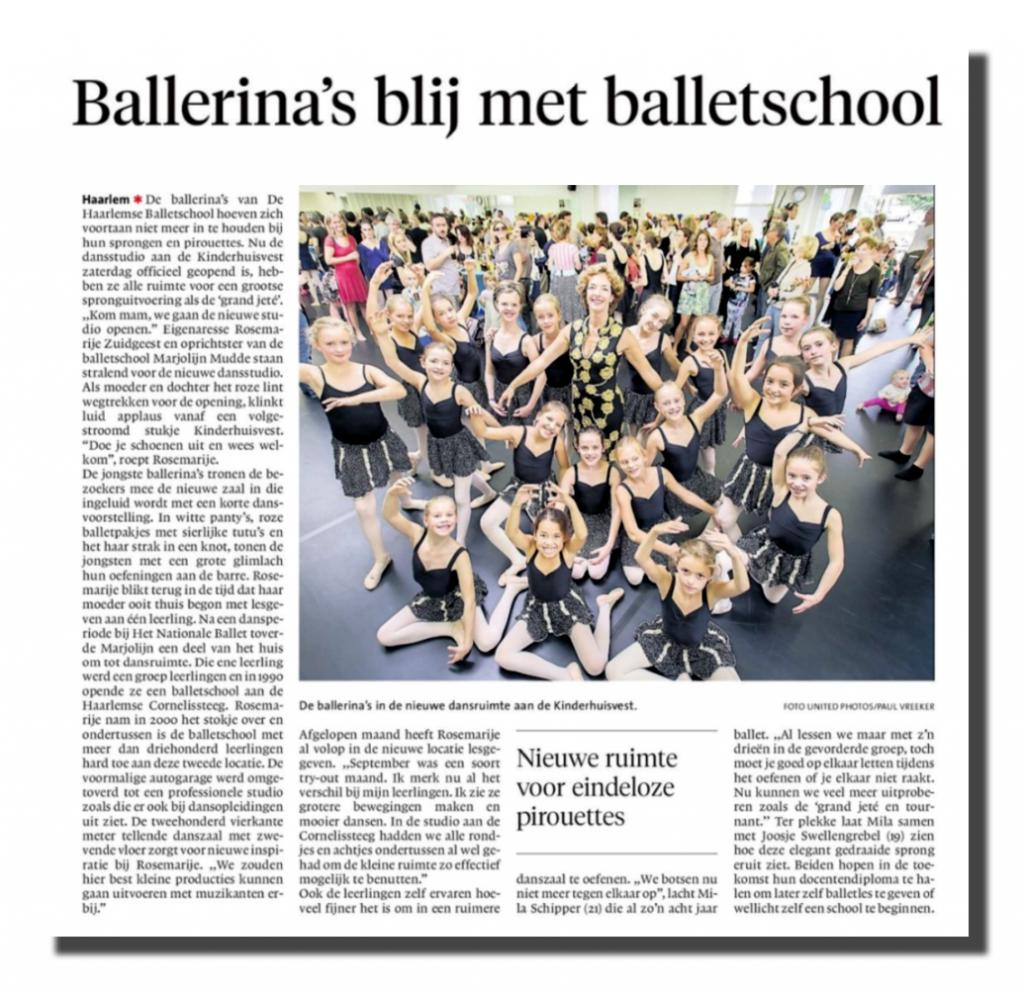 Opening nieuwe studio De Haarlemse Balletschool