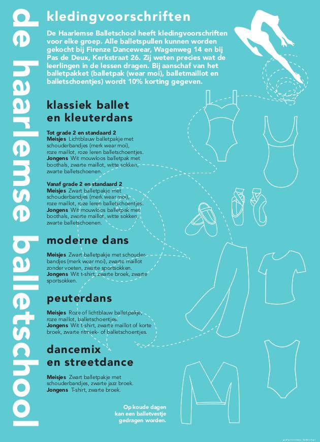 Kledingvoorschriften - De Haarlemse Balletschool