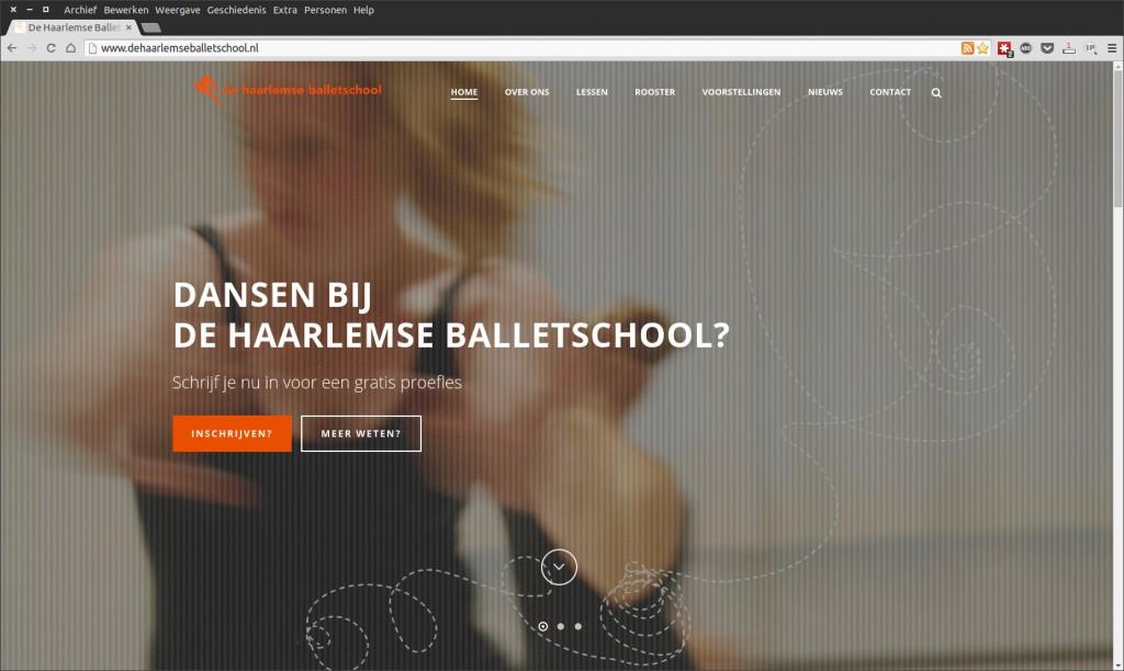 Nieuwe website De Haarlemse Balletschool
